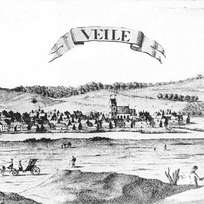 Vejle seen from the south, 1765-69