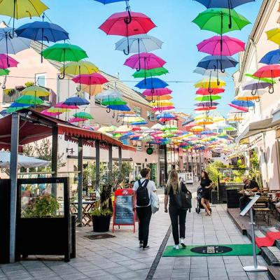 The umbrellas of Vejle Midtpunkt